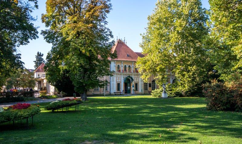 Balneological muzeum Imrich zima, Piestany, Sistani zdjęcia royalty free