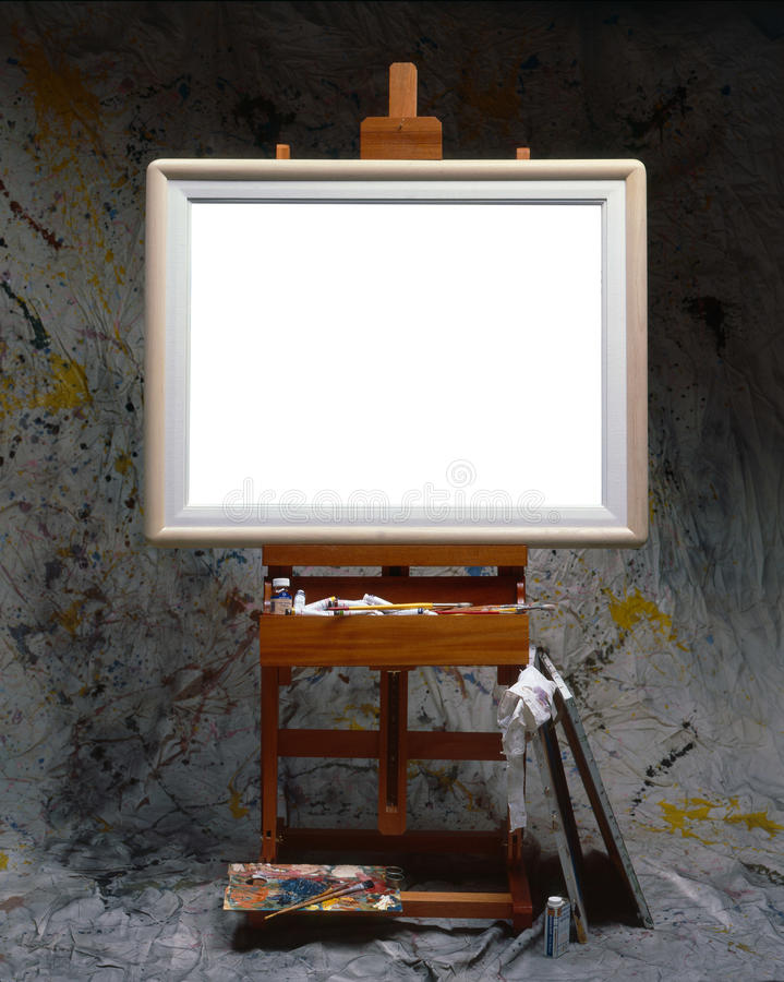 Balnk canvas royalty free stock photo