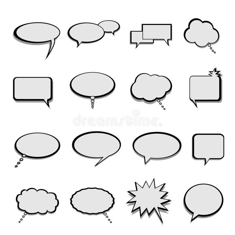 balonów bąbli mowy rozmowa ilustracja wektor