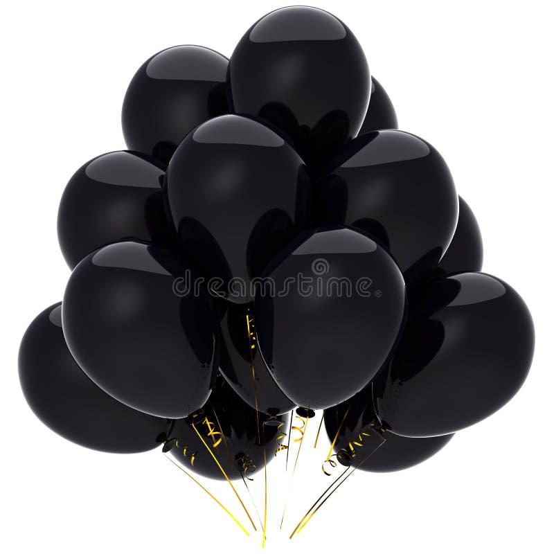 balonów czerń cześć res stroskanie royalty ilustracja