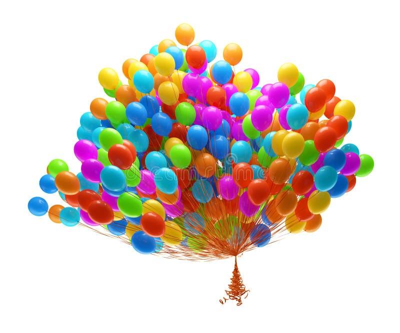 balonów duży wiązki przyjęcie royalty ilustracja