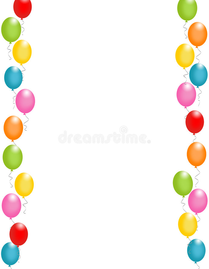 balonów granicy rama royalty ilustracja