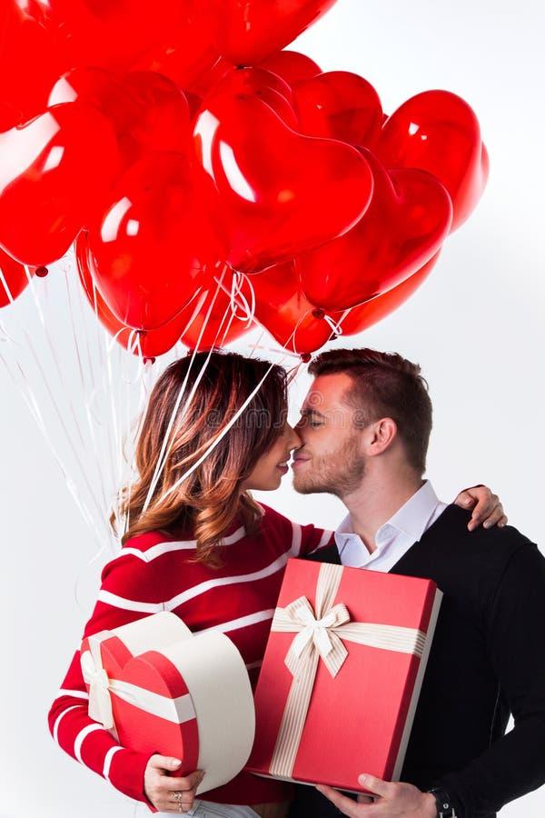 balonów pary serce kształtujący fotografia stock