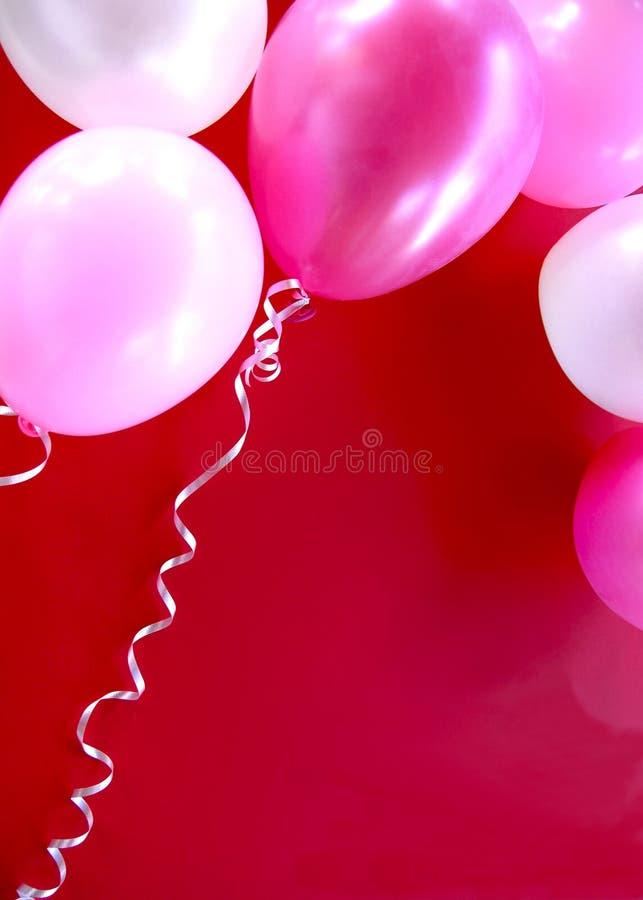 balonów przyjęcia menchie fotografia stock