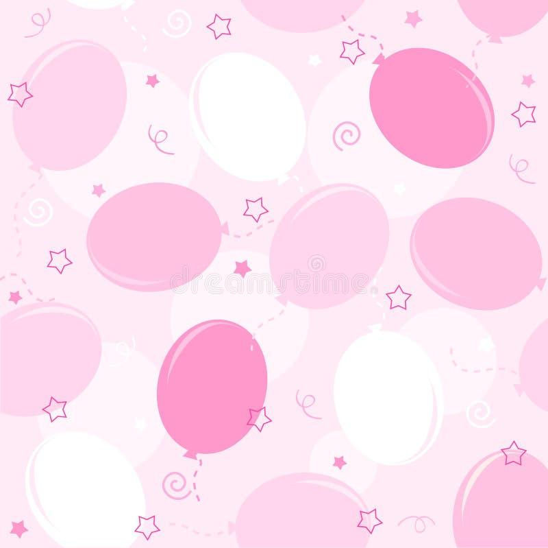 balonów przyjęcia wzór bezszwowy ilustracja wektor