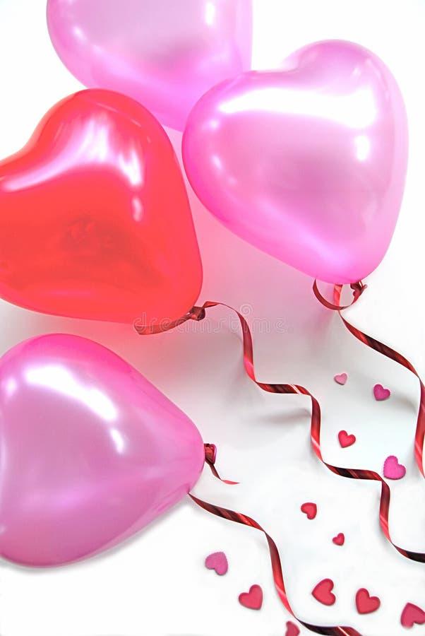 balonów serca przyjęcie kształtujący zdjęcie stock