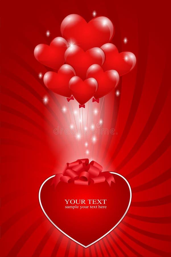 balonów wiązki serce ilustracji