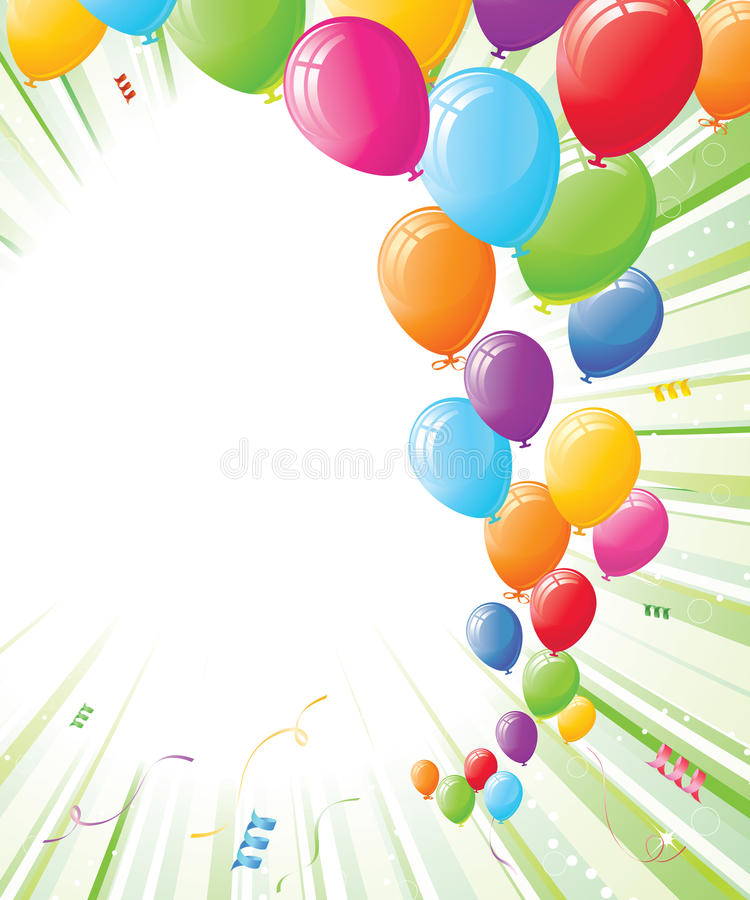 balonów zielonego światła przyjęcia promienie ilustracja wektor