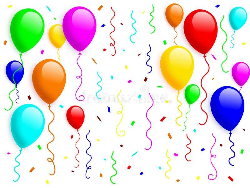 balon 2 konfetti ilustracji