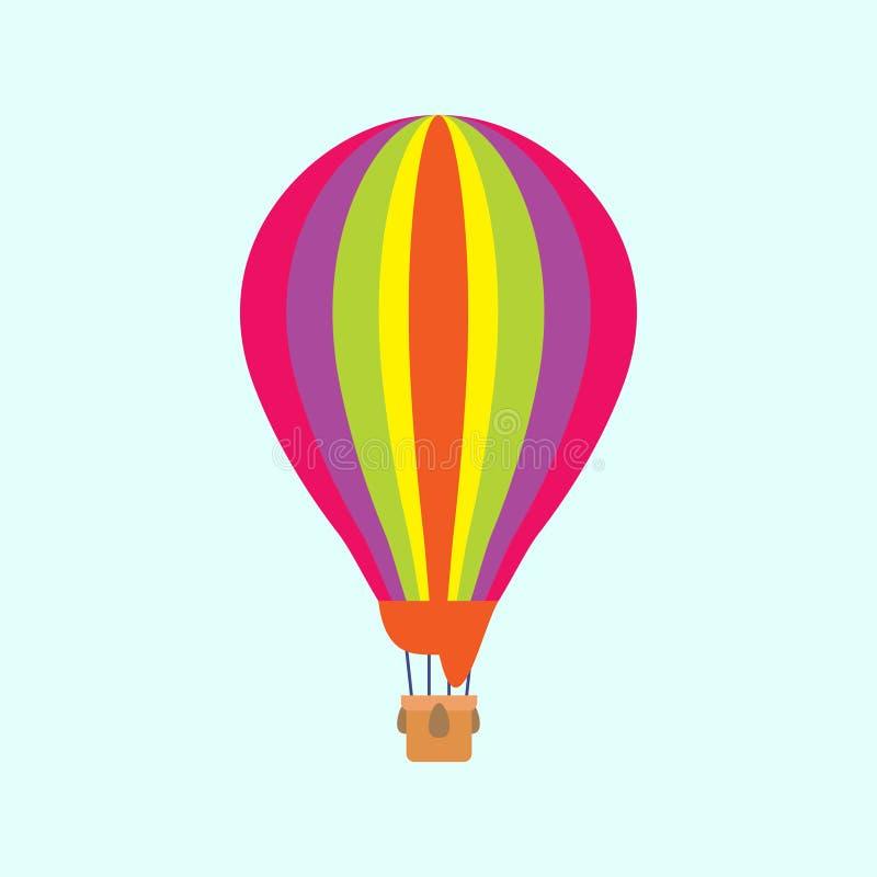 Balon na nieba tle lub błękitnym tle royalty ilustracja