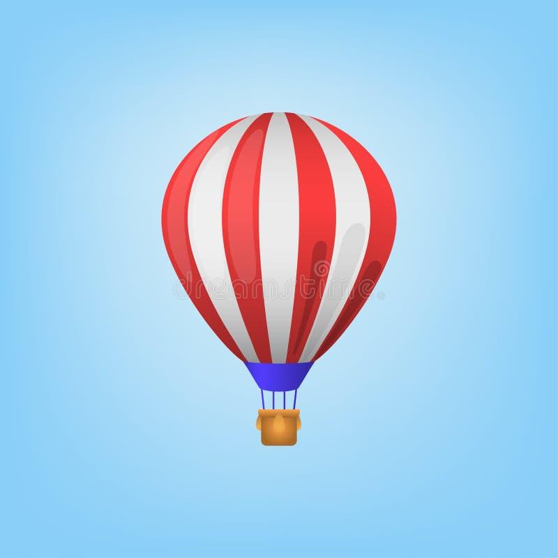 Balon na nieba tle lub błękitnym tle ilustracja wektor