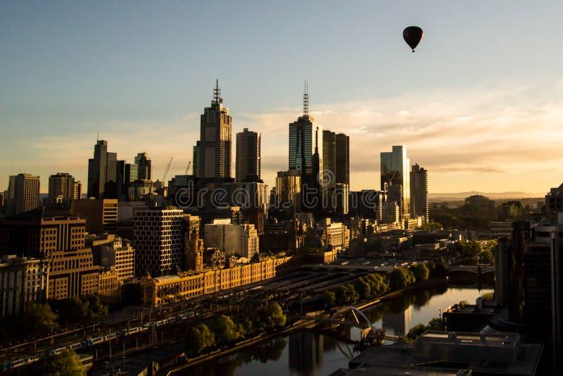 Balon Nad Melbourne zdjęcia stock