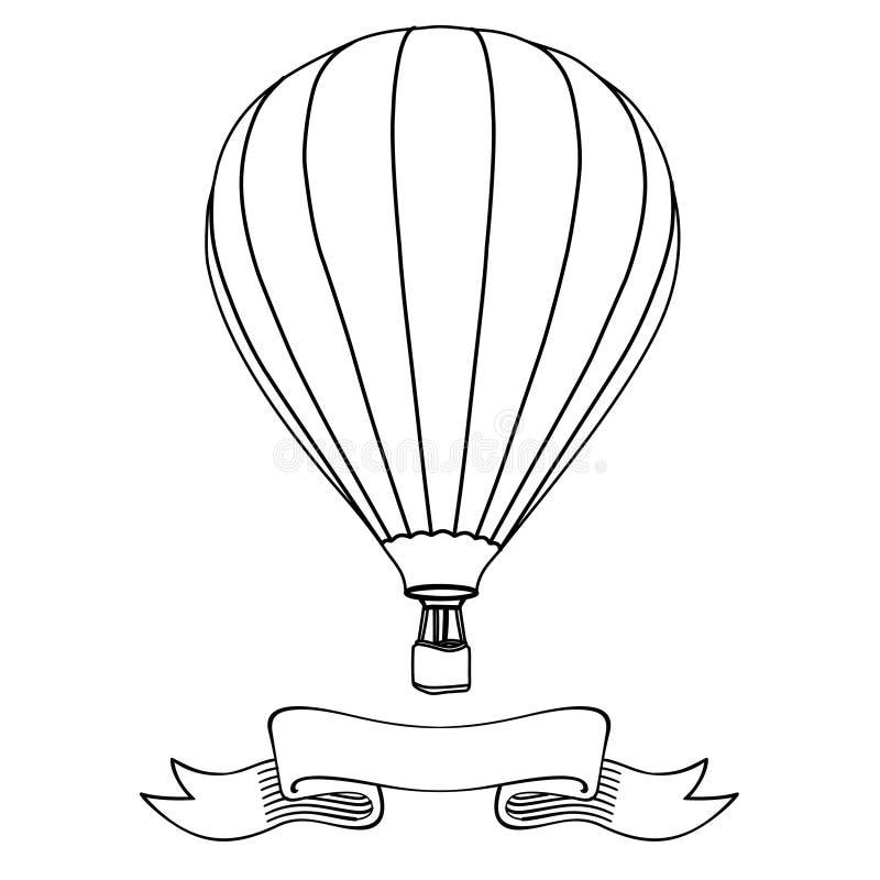 balon powietrza bealton latający cyrk gorąco show photgrphed va ilustracja wektor