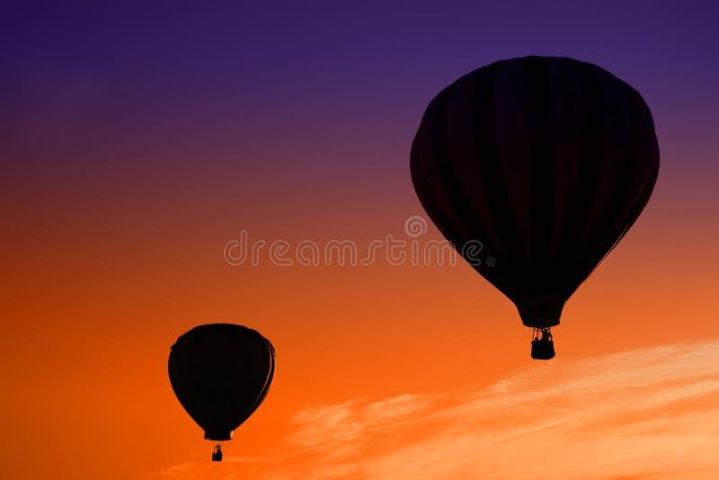 balon powietrza gorące wschód słońca obraz stock