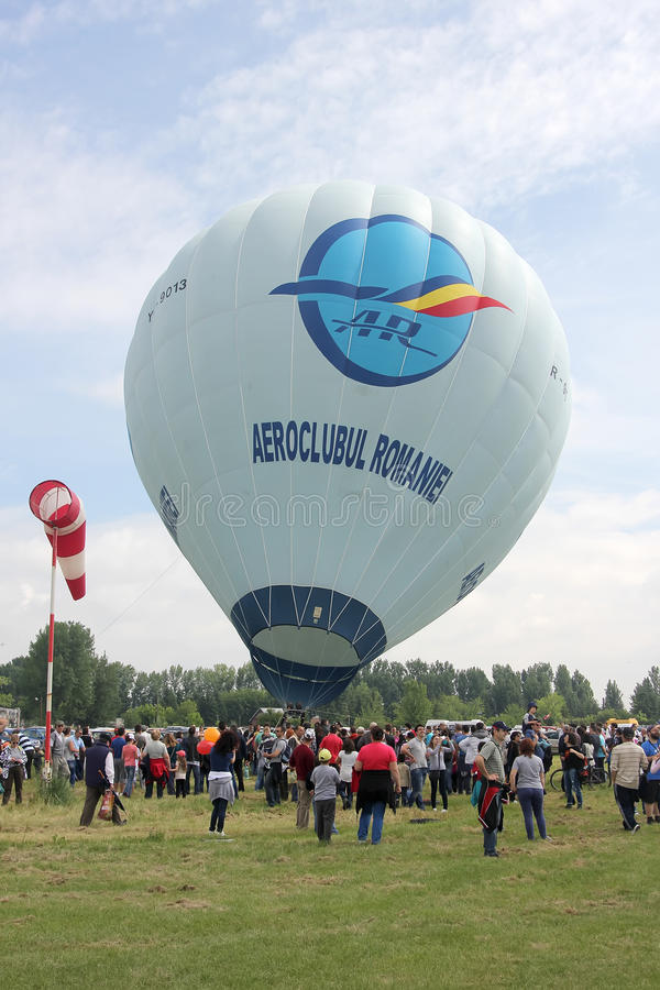 Balon przy aviatic przedstawieniem fotografia stock