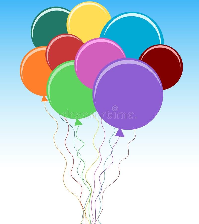 balon wiązka ilustracja wektor