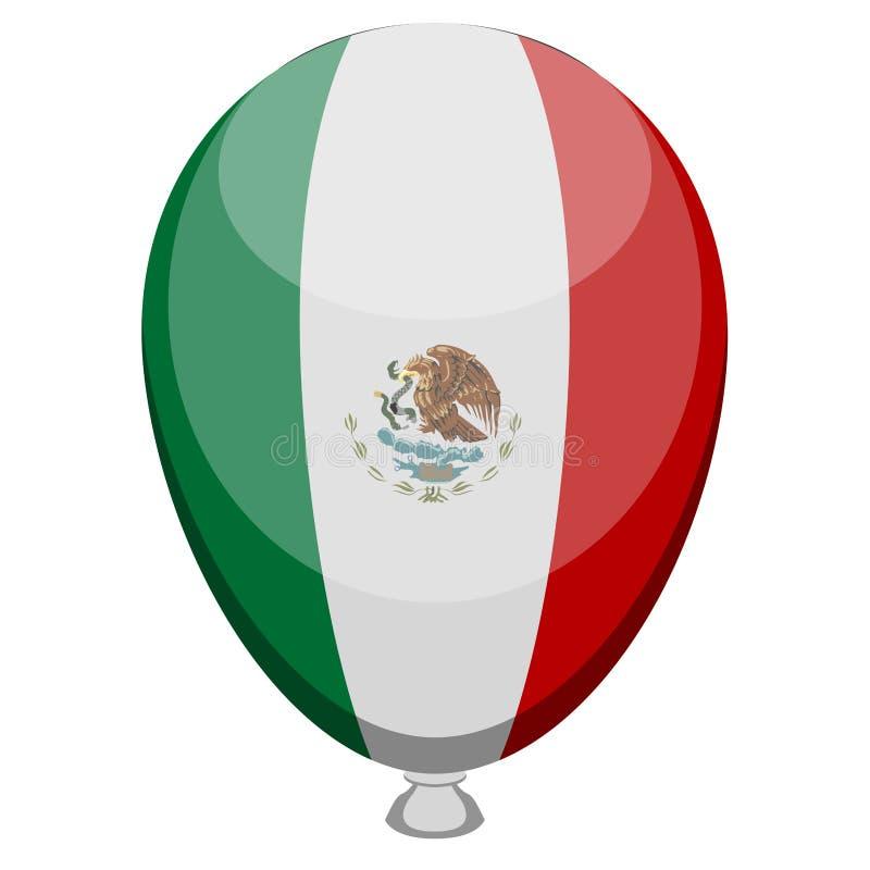 Balon z flagą Meksyk ilustracji