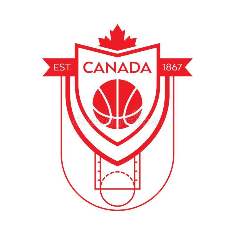 Baloncesto canadiense stock de ilustración