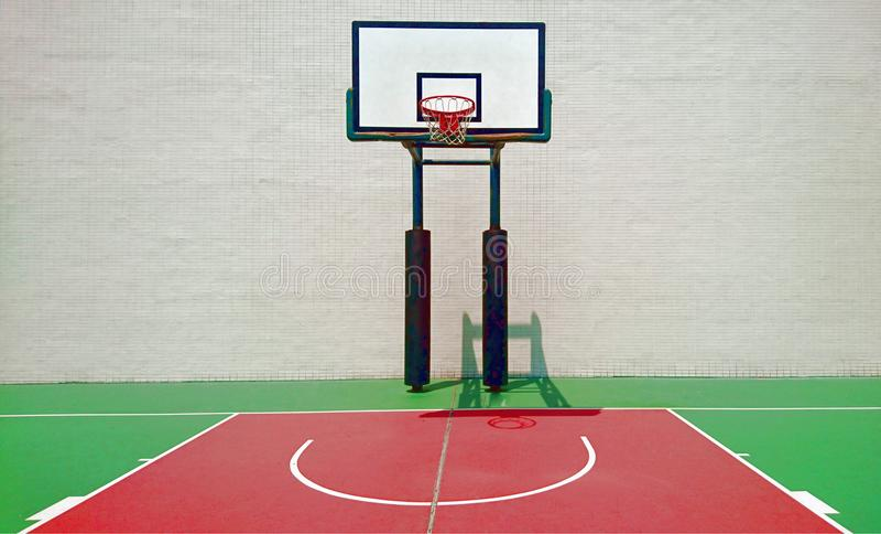Baloncesto court imagen de archivo libre de regalías