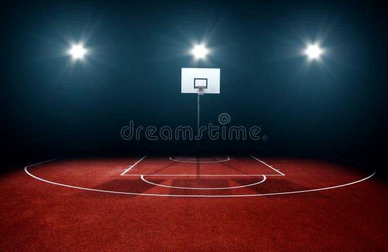 Baloncesto court fotografía de archivo libre de regalías