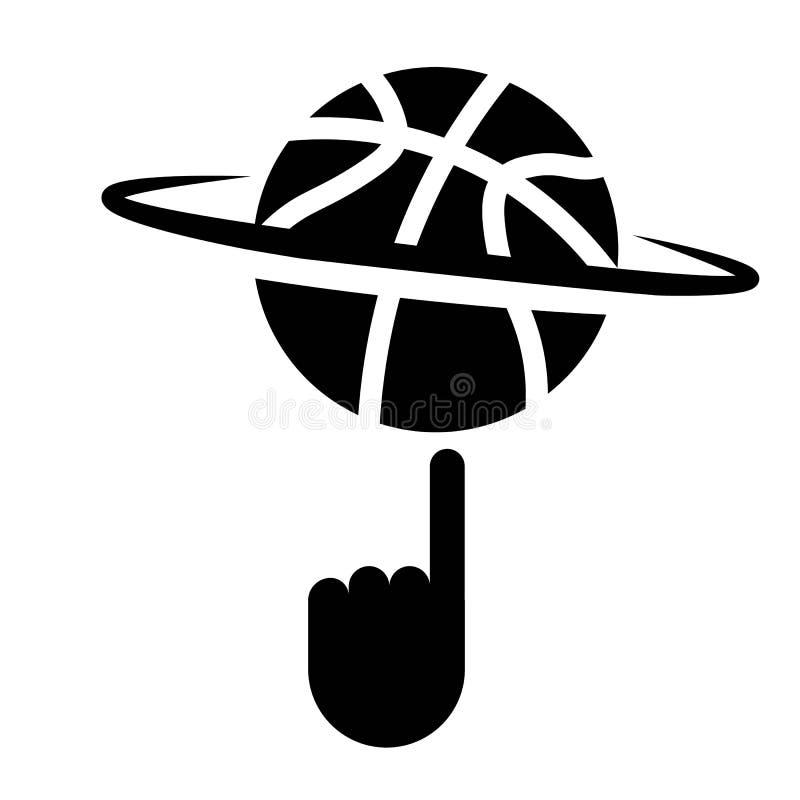 Baloncesto de giro con vector del icono del finger libre illustration
