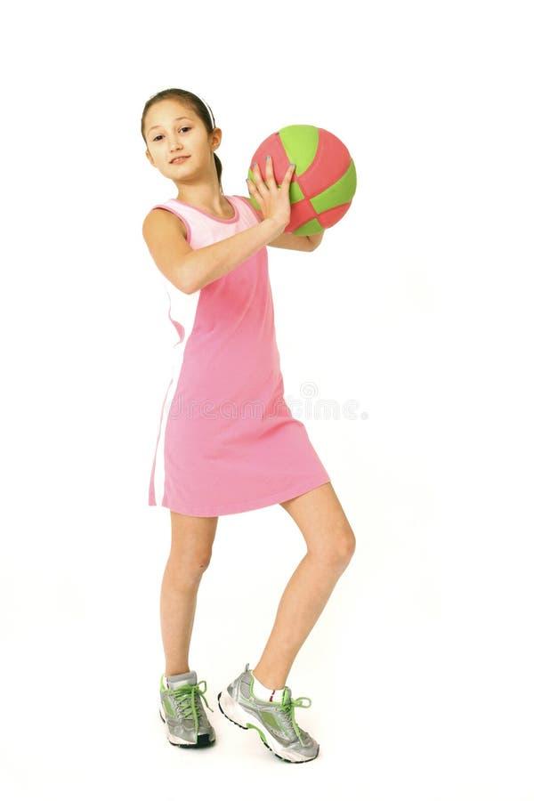 Download Baloncesto De La Explotación Agrícola De La Chica Joven Imagen de archivo - Imagen de confidente, pink: 7286665
