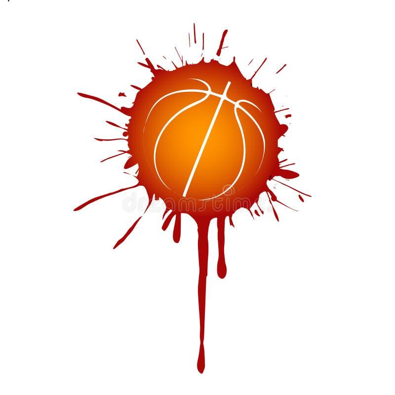 Baloncesto de la pintura del rojo anaranjado del splat del Grunge libre illustration