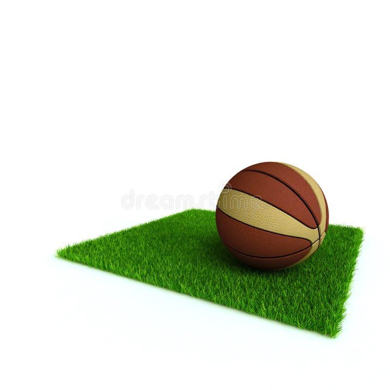 Baloncesto en un césped libre illustration