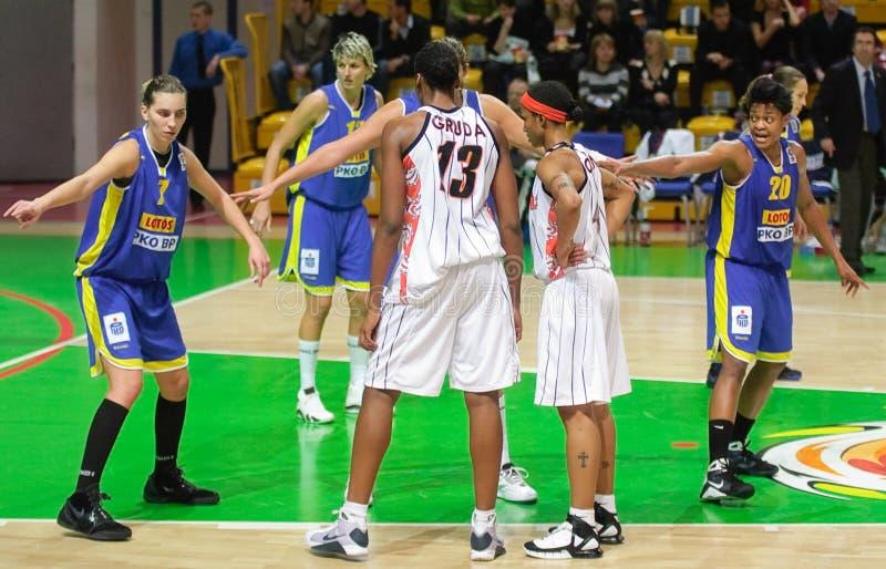 Baloncesto Euroleague de las mujeres fotografía de archivo