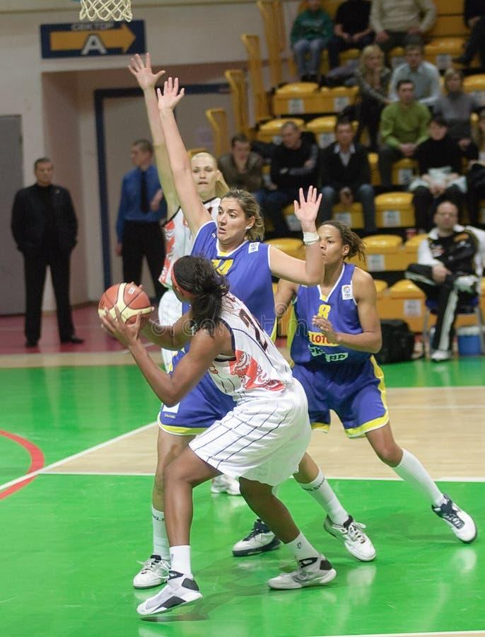 Baloncesto Euroleague de las mujeres imágenes de archivo libres de regalías