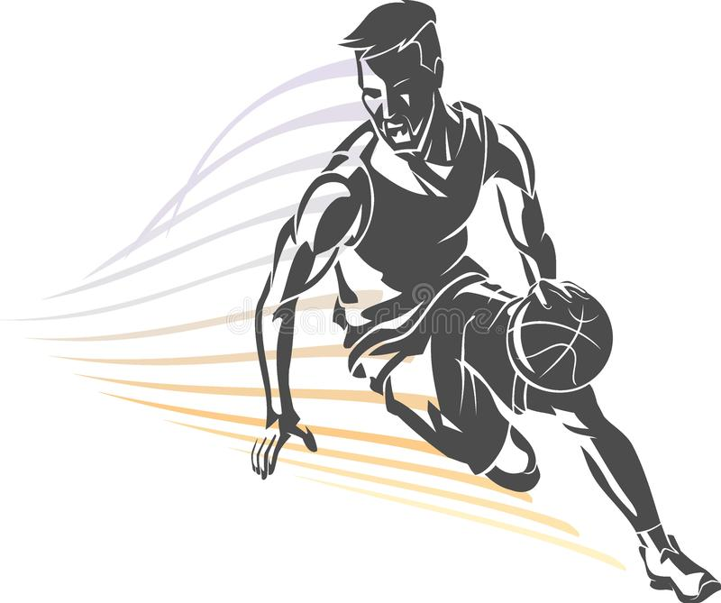 Baloncesto Front View Dribble libre illustration