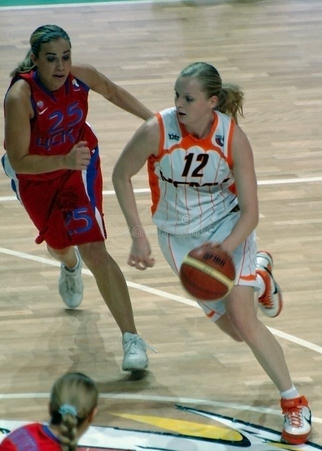 Baloncesto ruso de las mujeres fotografía de archivo