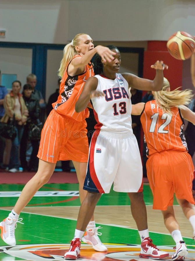 Baloncesto Silvia Fowles de los E.E.U.U. de las personas del jugador fotos de archivo libres de regalías