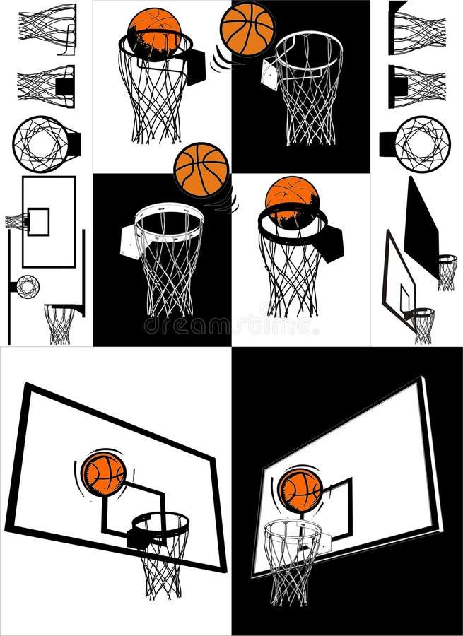 Baloncesto y vector del tablero trasero libre illustration