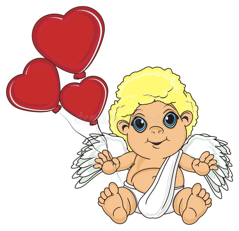 Balones de aire del control del ángel libre illustration