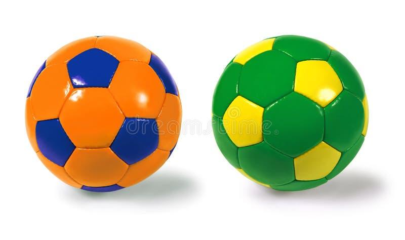 Balones de fútbol imagen de archivo libre de regalías