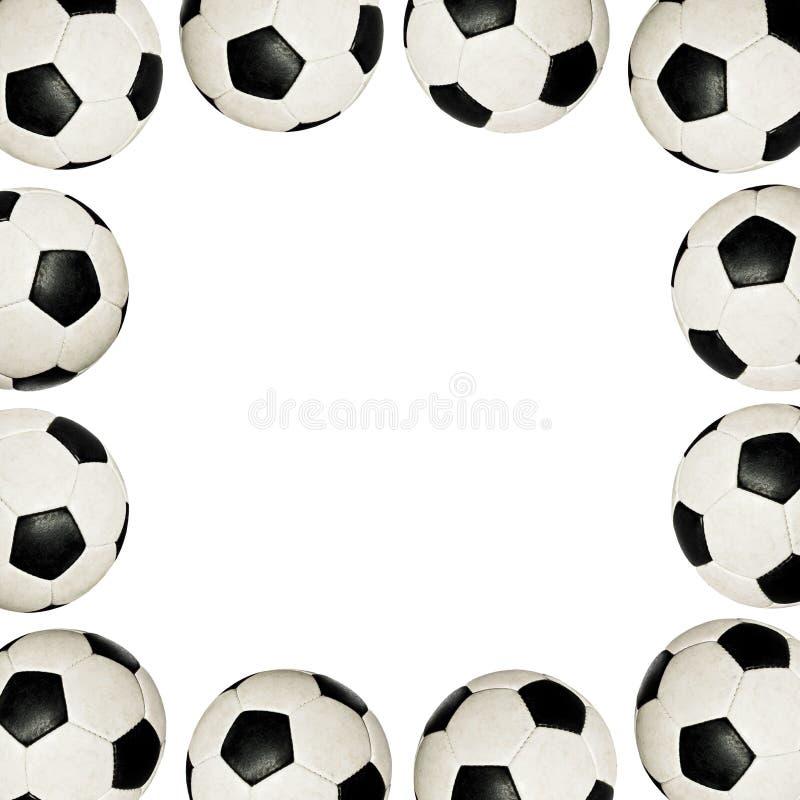 Balones de fútbol - marco imágenes de archivo libres de regalías