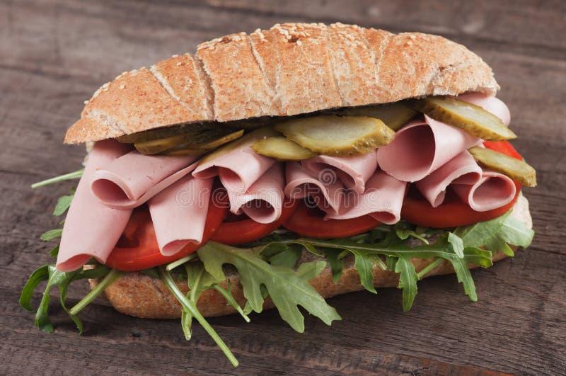 Baloney podwodna kanapka zdjęcia stock