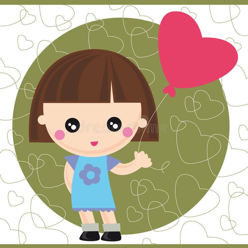 balonowa dziewczyna ilustracja wektor