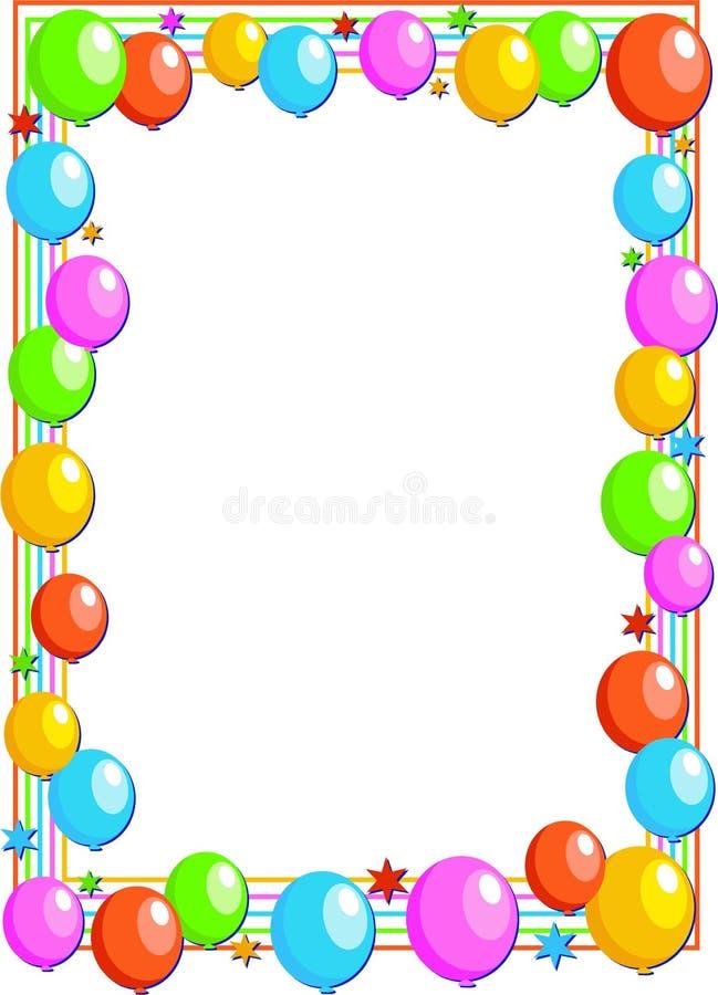 balonowa granica royalty ilustracja