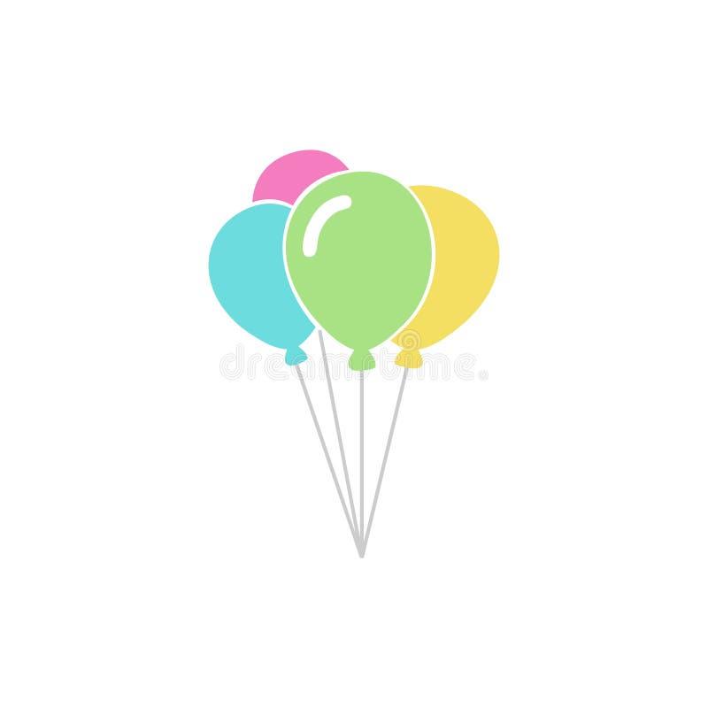 Balonowa ikona Wektorowy ilustracyjny logo EPS8 royalty ilustracja
