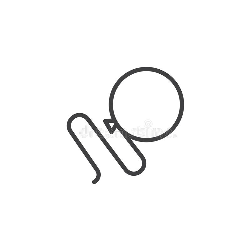 Balonowa kreskowa ikona ilustracji