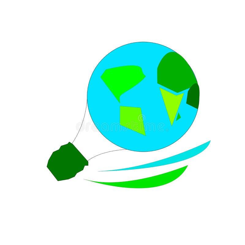 Balonowa kula ziemska i ziemia royalty ilustracja
