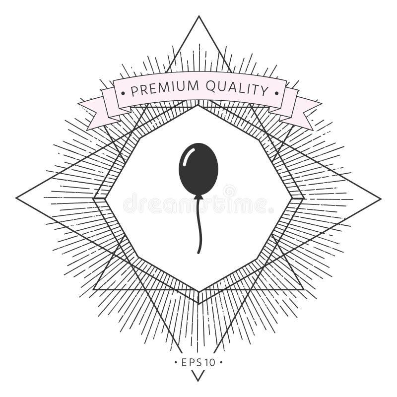 Balonowa symbol ikona ilustracji