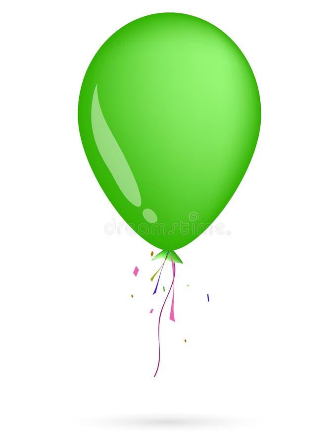 balonowa zieleń ilustracja wektor