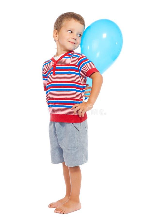 balonowej chłopiec mały ja target1531_0_ obrazy stock