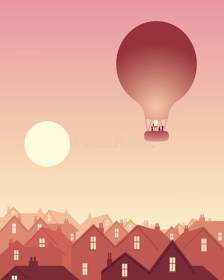 balonowi dachy ilustracja wektor