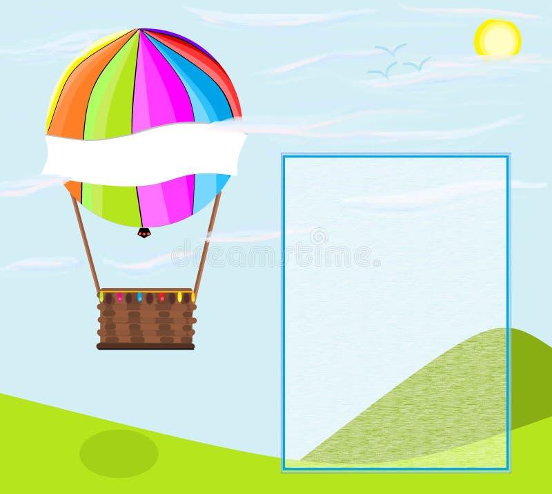 Balonowy aerostatic ilustration ilustracja wektor