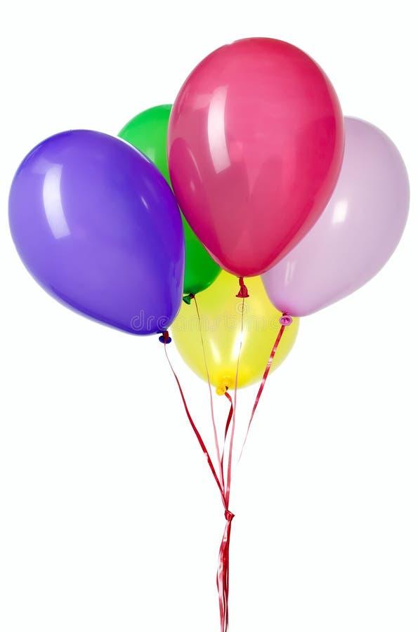 balonowy dekoraci przyjęcia czerwieni sznurek zdjęcie stock