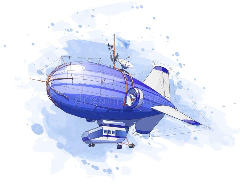 balonowy dirigible ilustracji